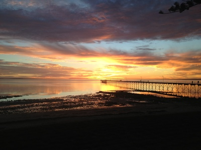 Ceduna sunset from the hotel
