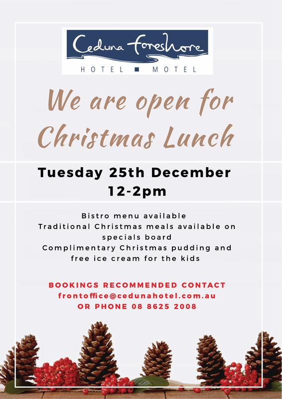 Christmas Lunch 2018 Ceduna Foreshore Hotel Motel